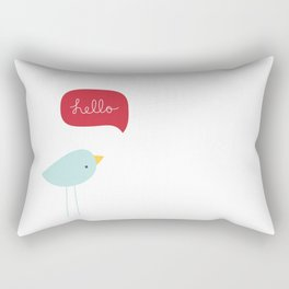 Hello Birdie Rectangular Pillow