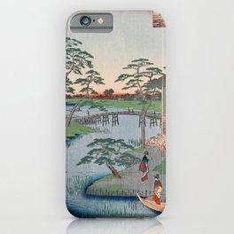 Mokuboji Temple Vintage Ukiyo-e Japanese Art iPhone Case