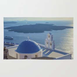 Santorini Island, Greece Rug