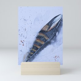 Sea snail - Mitra zonata Mini Art Print