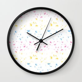 Dandelion Seeds Pansexual Pride (white background) Wall Clock