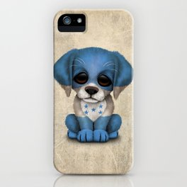 Cute Puppy Dog with flag of Honduras iPhone Case