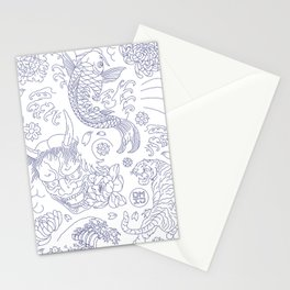 Japanese Tattoo Stationery Cards