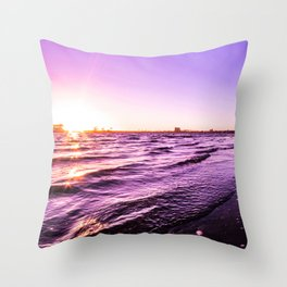 Mission Bay Riverboat Sunset in San Deigo, California Throw Pillow