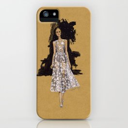 A Modern Wedding Dress iPhone Case