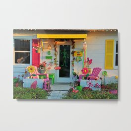 Beach Bungalow Metal Print