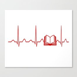 BOOK HEARTBEAT Canvas Print