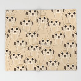 Meerkats Kalahari Desert Throw Blanket