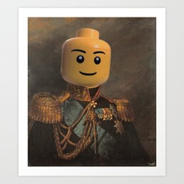 Le-go Man General Portait Painting | Fan Art Art Print
