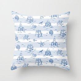 Sandcastle Stripes_Pattern Throw Pillow