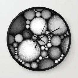 OBLIVIOUS SPHERES BLACK Wall Clock