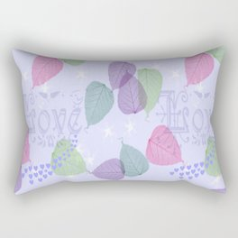 Love Like a Leaf in the Wind Rectangular Pillow