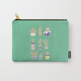 Pastel Cactus Carry-All Pouch