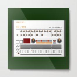 Retro TR-909 Drum Machine Roland Metal Print
