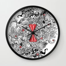 10 of Diamonds Wall Clock