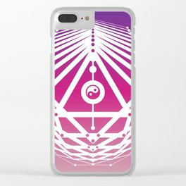 Radiant Abundance (warm purple-white) Clear iPhone Case