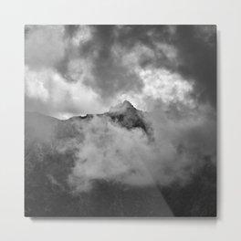 Misty Mountains. Alayos. Sierra Nevada. Bw Metal Print