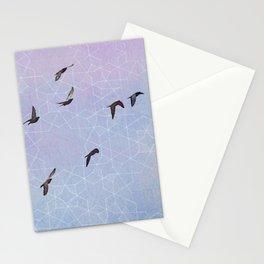 FLYING GEOMETRY BIRDS Stationery Cards