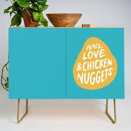 Peace, Love & Chicken Nuggets Credenza