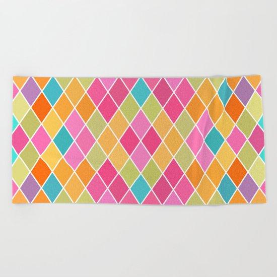 Lovely geometric Pattern VIII Beach Towel