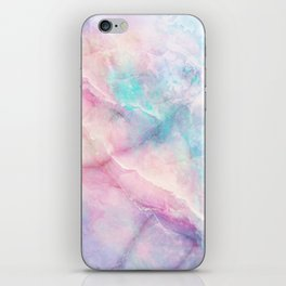 Iridescent marble iPhone Skin