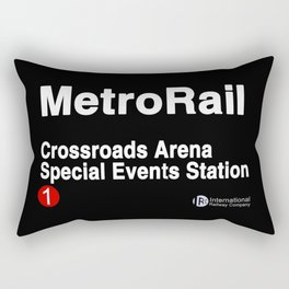 Crossroads Arena Special Events Station Rectangular Pillow