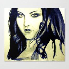 Beautiful Amy Lee Canvas Print