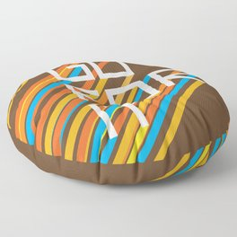 70s Go For It Floor Pillow