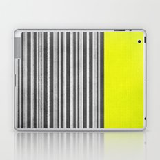 Yellow Gray Stripes Laptop & iPad Skin