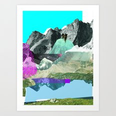 Experiment am Berg 8 Art Print