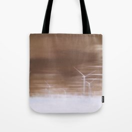 Ghostly wind turbines Tote Bag