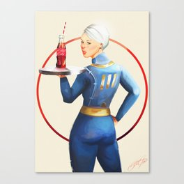 Nuka Cola Pinup Canvas Print