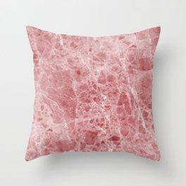 Juliette rosa deep pink marble Throw Pillow