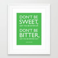 jewish Framed Art Prints featuring jewish proverb by Rae Snyder
