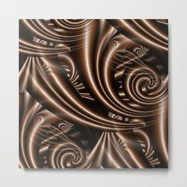 fractal brown Metal Print