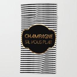 Champagne S'il Vous Plait Beach Towel