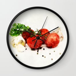 Kitchen scene Wall Clock
