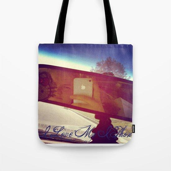 I Love My Iphone Tote Bag