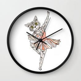 Cat Ballerina Tutu Wall Clock