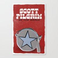 scott pilgrim Canvas Prints featuring Scott Pilgrim VS The World by Bill Pyle