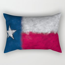 Stylized painted Texas Flag Rectangular Pillow