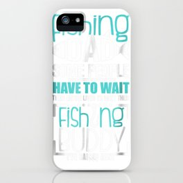 Mens Fishing Dad Funny Father Kid Matching T-shirt iPhone Case