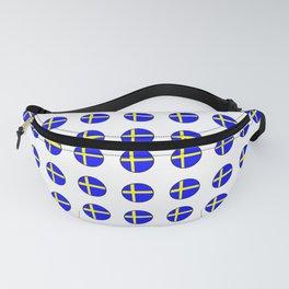 flag of sweden 3 Swedish,Sverige,Swede,Stockholm,Scandinavia,viking,bergman, strindberg Fanny Pack