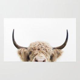 Peeking Highland Cow Rug