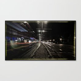 moving lights Canvas Print