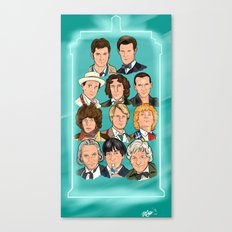 The Eleven Doctors Canvas Print