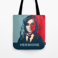 hermione Tote Bags featuring Hermione by husavendaczek