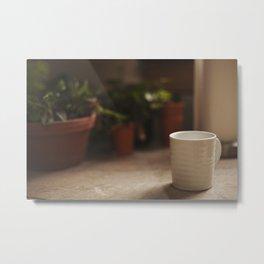 Coffee and House Plants Metal Print