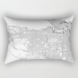 Vancouver White Map Rectangular Pillow