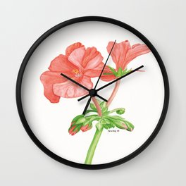 Geranium blossoms Wall Clock